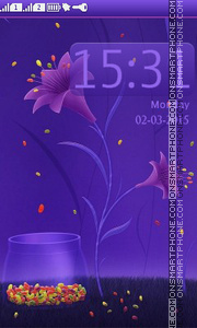 Purple Flower theme screenshot