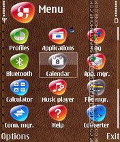 Brown Leather theme screenshot