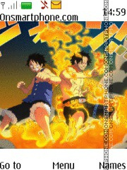 One Piece Luffy Ace tema screenshot