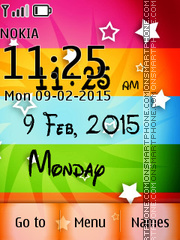 Digital Colorful Clock theme screenshot