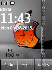Apple Logo Dual Clock theme screenshot