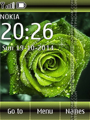 Green Rose 02 tema screenshot