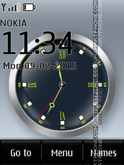 Analog Clock 07 theme screenshot