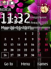 Calendar with Flowers theme screenshot
