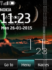 Moon Digital Clock 01 theme screenshot
