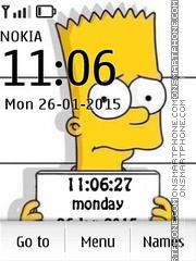 Capture d'écran Sipmsons Clock thème