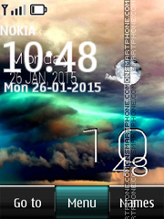 Storm Theme with Clock theme screenshot