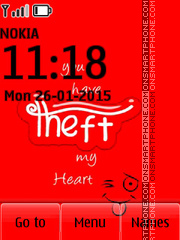 Theft My Heart theme screenshot