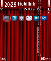 Curtain red theme screenshot
