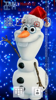 Snowman in Winter tema screenshot