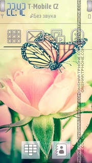 Vintage Rose tema screenshot