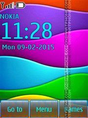 Colorful Background Theme-Screenshot