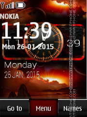 Sunset on Bali Dual Clock theme screenshot