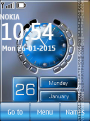 Signal Battery Calendar Clock theme screenshot
