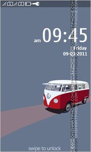 Volkswagen Bus theme screenshot