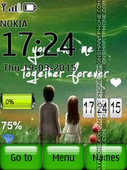 Lovers Clock tema screenshot