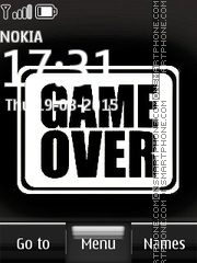 Game Over Quote es el tema de pantalla