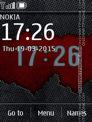 Abstract Clock 04 theme screenshot