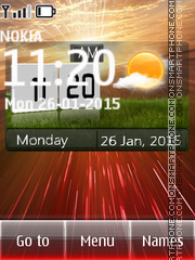 Weather Nature Clock theme screenshot