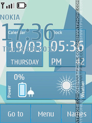 Abstract Shapes Clock tema screenshot