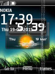Скриншот темы HTC Weather Clock