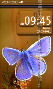 Lilac Butterfly theme screenshot