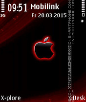 Black Apple tema screenshot