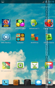 Sky and Clouds theme screenshot
