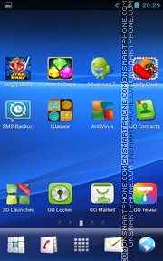 Sony Xperia Z2 tema screenshot