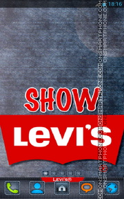 Levis Jeans 01 tema screenshot