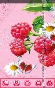 Raspberries 01 tema screenshot
