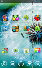 Dandelion by Eseth tema screenshot