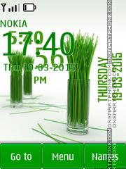 Grass Green Clock tema screenshot