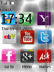 Social Networks Icons tema screenshot
