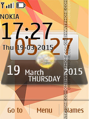 Abstract Style Nokia X2 Clock theme screenshot