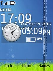 Blue Deep Clock 01 theme screenshot