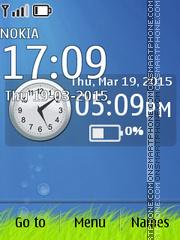 Blue Deep Clock 01 theme screenshot