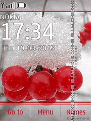 Frozen Berries tema screenshot