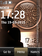 Couple Dual Clock theme screenshot