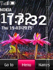Rain Digital Clock 02 theme screenshot