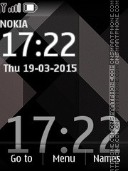 Black Digital Clock 01 theme screenshot
