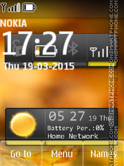 Android Widget theme screenshot