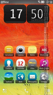 Orange Summer 01 tema screenshot