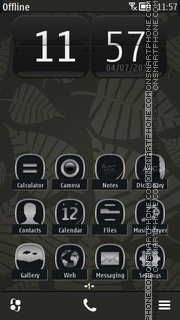 Dark Leaves tema screenshot