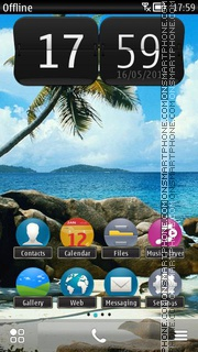 Beach in Tropics theme screenshot