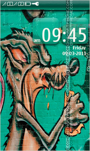 Graffiti Wall tema screenshot