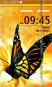 Black Butterfly 01 theme screenshot