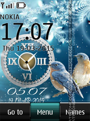 Bird Dual Clock tema screenshot