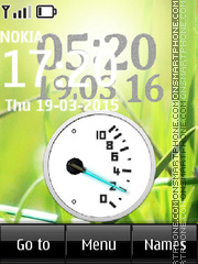 Battery Clock 03 theme screenshot