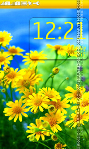 Yellow Daisies theme screenshot